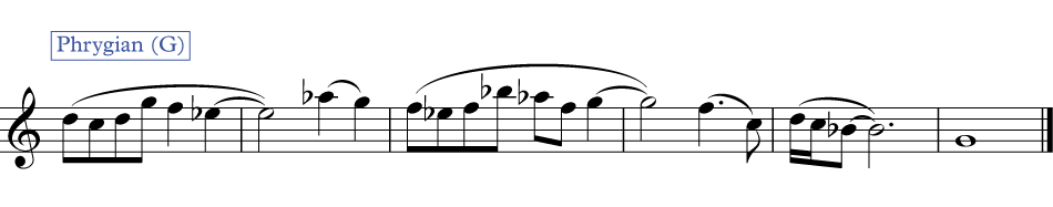 a melody on Phrygian